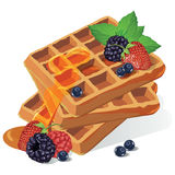 Vintage waffles poster design Royalty Free Stock Image