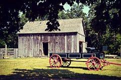 Vintage Wagon and Barn Stock Photos