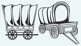 Vintage wagon to transport Stock Photography