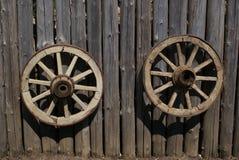 Vintage wagon wheels stock photography