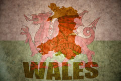 Vintage wales map Royalty Free Stock Photos