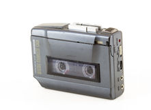 Vintage walkman. In a white background Royalty Free Stock Images