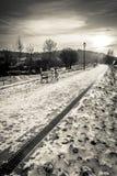 Vintage walkway in winter time, Kazimierz Dolny Stock Image