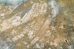 Vintage wall cement old texture damage floor concrete for background.  royalty free stock photography