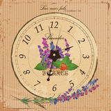 Vintage wall clock in the style of Provence Stock Photo