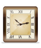 Vintage wall clock,vector Stock Photo