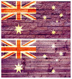 Vintage wall flag of Australia Stock Image