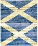 Vintage wall flag of Scotland Royalty Free Stock Photos