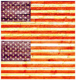 Vintage wall flag of United States of America Royalty Free Stock Photos