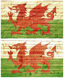 Vintage wall flag of Wales Stock Photography
