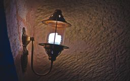 Vintage Wall Lamp Light Fixture royalty free stock photo