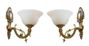 Vintage wall lamps Royalty Free Stock Images
