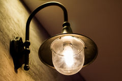 Vintage wall light, Light in building, Classic light in vintage room royalty free stock images