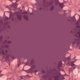 Vintage wall-paper, Flower vignette, pink-purple stock illustration