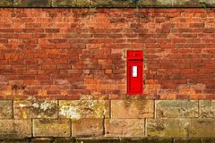 Vintage wall and post box Royalty Free Stock Images