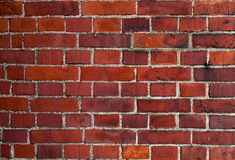 Vintage wall of red bricks Royalty Free Stock Images