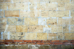 Vintage wall of sandstone bricks Stock Photos