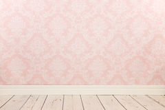 Vintage wall and wooden floor. Vintage wall, wooden floor and plinth royalty free stock images
