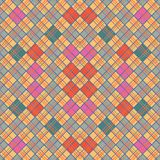 Vintage wallpape in checkered Stock Photography