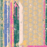 Vintage wallpape in striped Stock Image