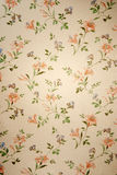 Vintage wallpaper. Funky vintage wallpaper with flower design Royalty Free Stock Photo