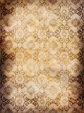 Vintage wallpaper background. Gold vintage wallpaper background with a floral pattern Stock Photos