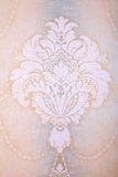 Vintage wallpaper background with beige vignette victorian patte Royalty Free Stock Photos