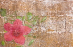 Vintage wallpaper with bellflower Stock Image