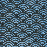 Vintage wallpaper - Blue Fans Stock Photo