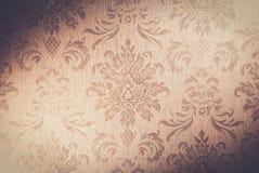 Vintage wallpaper. Vintage damask wallpaper background close up Royalty Free Stock Image
