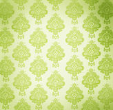 Vintage wallpaper with floral design Stock Photo