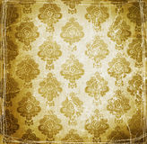 Vintage wallpaper with floral design Royalty Free Stock Photo