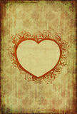 Vintage wallpaper with floral heart Stock Images
