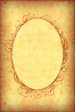Vintage wallpaper with floral oval frame Stock Images
