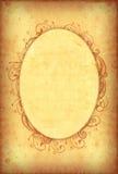 Vintage wallpaper with floral oval frame Stock Images