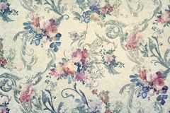 Vintage floral wallpaper. Vintage wallpaper with floral patterns royalty free stock photography