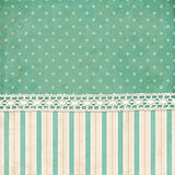Vintage background. Polka dot and strips wallpaper Stock Images