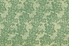 Vintage wallpaper with leaves Stock Image