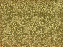 Vintage wallpaper - leaves and branches. Used vintage floral wallpaper with leaves and branches - grainy surface Royalty Free Stock Photos