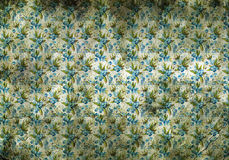Vintage wallpaper with little blue flowers Royalty Free Stock Image