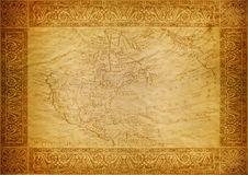 Vintage wallpaper, map USA Stock Photo