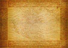 Vintage wallpaper, map USA Stock Photo