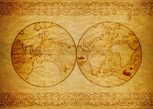 Vintage wallpaper, map World Royalty Free Stock Photography