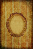 Vintage wallpaper with oval frame Royalty Free Stock Photos