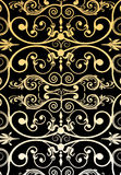 Vintage wallpaper pattern. With black colour background Royalty Free Stock Photos