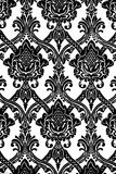Vintage wallpaper pattern in black and white Stock Image