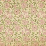 Vintage wallpaper - pink flowers Stock Image