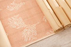 Vintage wallpaper rolls Royalty Free Stock Photography