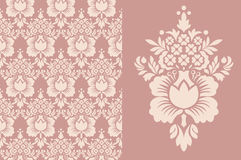 Vintage wallpaper seamless. Old Royal pattern. Royalty Free Stock Images