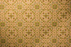 Free Vintage Wallpaper With Rosettes Royalty Free Stock Photography - 520827
